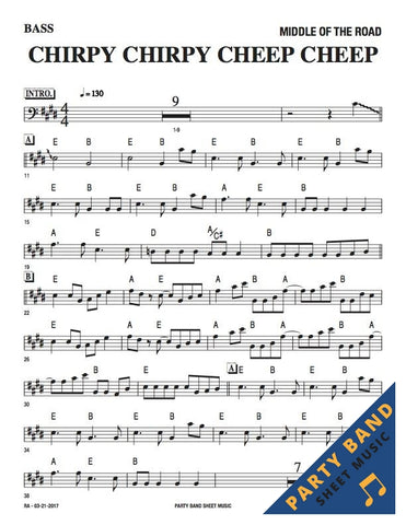 Chirpy Chirpy Cheep Cheep (Middle Of The Road) - Bass Part Sheet Music download