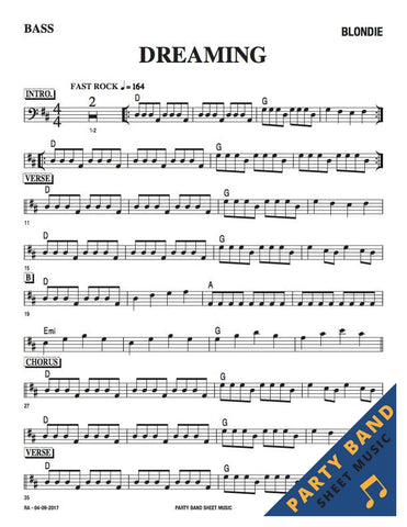 Dreaming (Blondie) - Bass Part Sheet Music pdf download