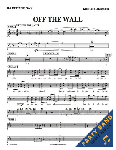 Off The Wall (Michael Jackson) - Horn and Rhythm Parts
