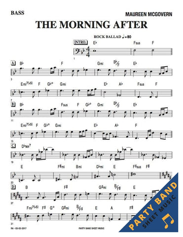 The Morning After (Maureen McGovern) - Bass Part Sheet Music pdf download