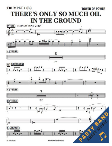 only so much oil tower of power sheet music horn rhythm parts party band sheet music. Black Bedroom Furniture Sets. Home Design Ideas