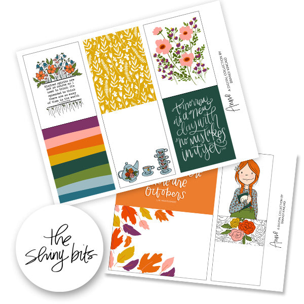 Anne Digital Journal Cards