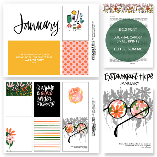 Extravagant Hope: January Digital Collection