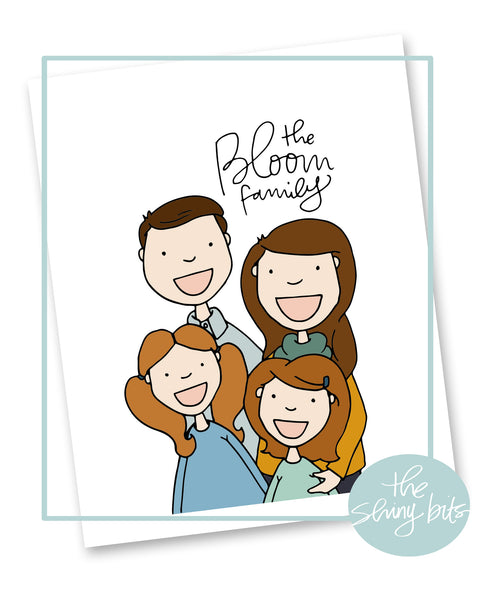 Custom Family Portrait Digital Print