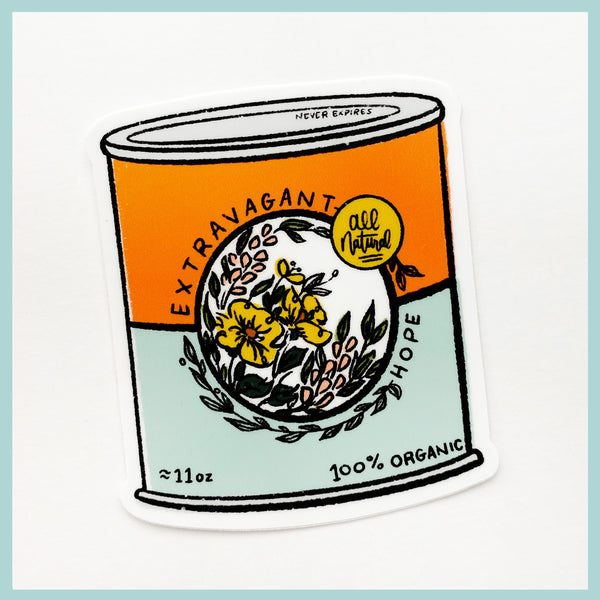 Can of Extravagant Hope Sticker