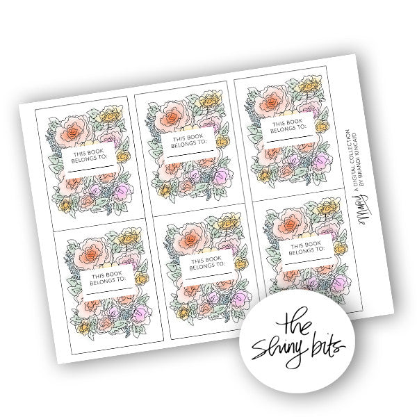 Mary Digital Bookplates