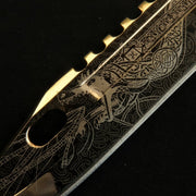24K Gold D-Lore M9 Bayonet-Real Video Game Knife Skins-Elemental Knives