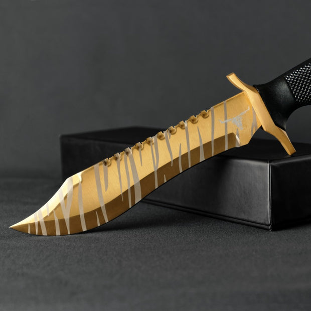 Tiger Tooth Bowie Knife-Real Video Game Knife Skins-Elemental Knives