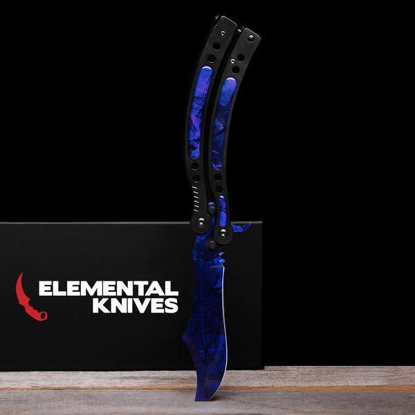 Black Pearl Folding Butterfly Knife