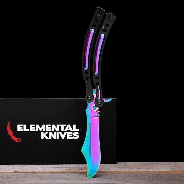 Fade Folding Butterfly Knife