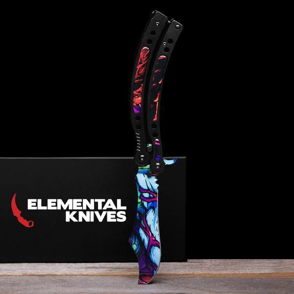Randomized Hyper Beast© Folding Butterfly Knife