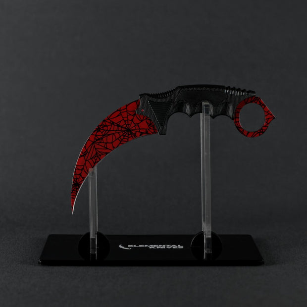 Crimson Web Karambit 2.0-Real Video Game Knife Skins-Elemental Knives
