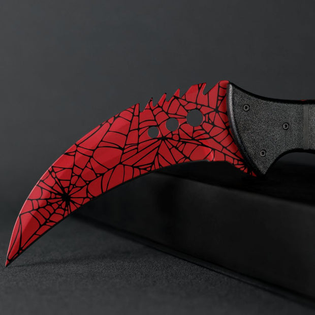 Crimson Web Talon-Real Video Game Knife Skins-Elemental Knives