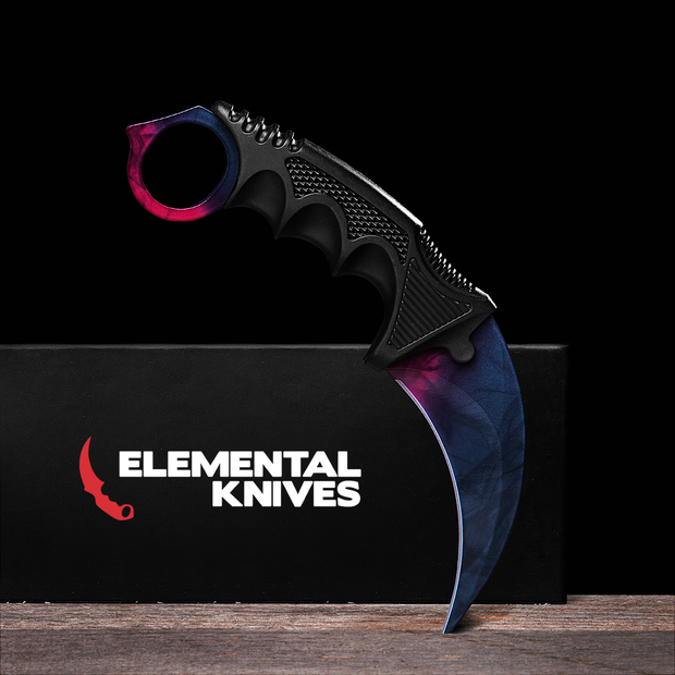 Black Pearl Karambit 1.0-Real Video Game Knife Skins-Elemental Knives