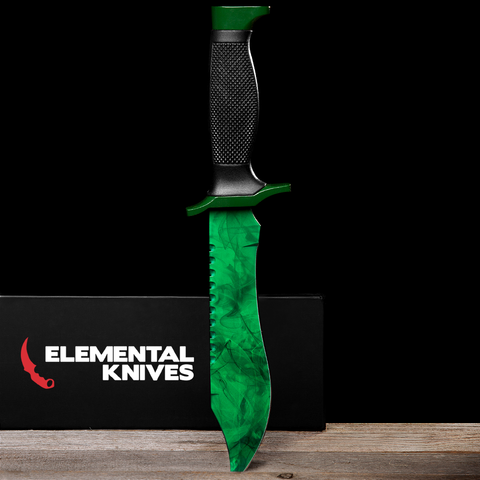 Emerald Bowie Knife-Real Video Game Knife Skins-Elemental Knives