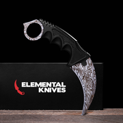Damascus Steel Karambit 1.0-Real Video Game Knife Skins-Elemental Knives