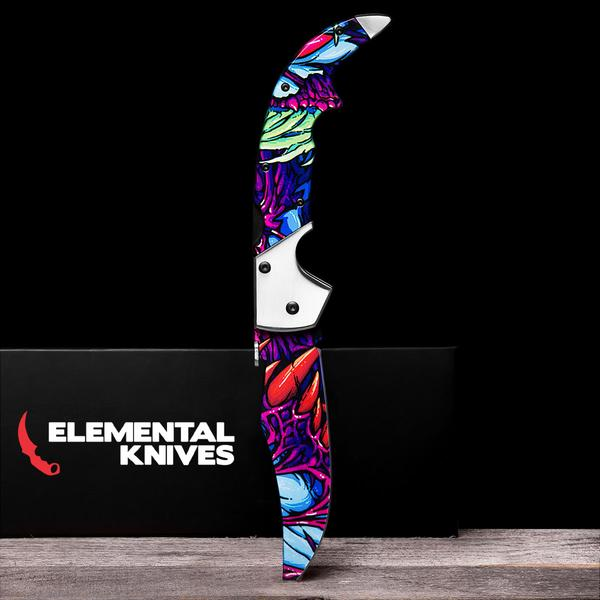 Randomized Hyper Beast©-Real Video Game Knife Skins-Elemental Knives