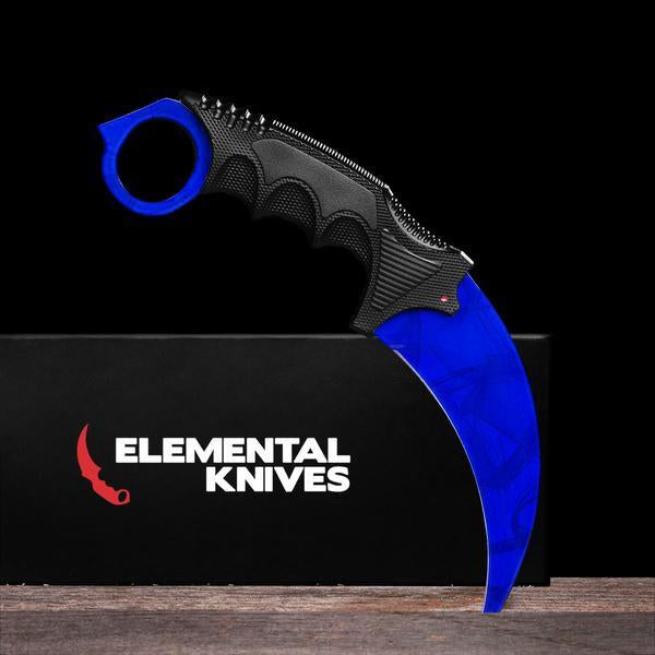 Sapphire Karambit 2.0-Real Video Game Knife Skins-Elemental Knives