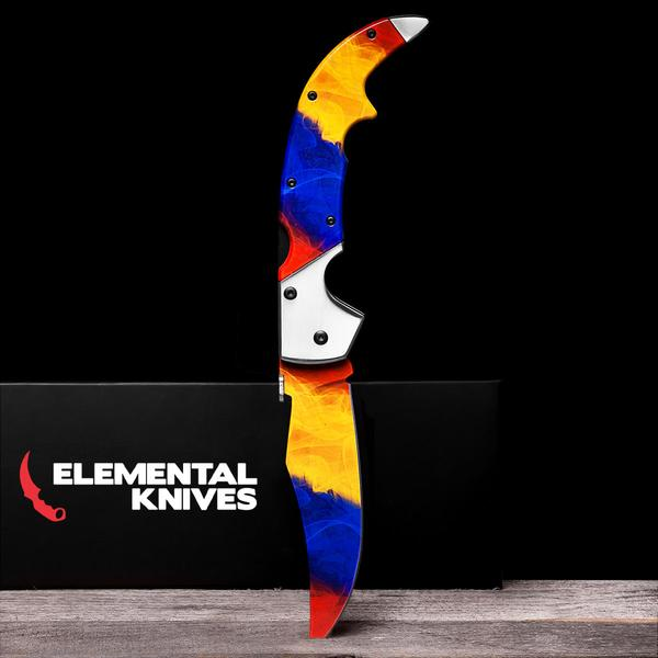 Marble Fade-Real Video Game Knife Skins-Elemental Knives