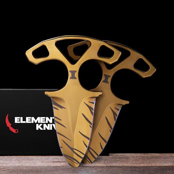 Tiger Tooth Shadow Daggers-Real Video Game Knife Skins-Elemental Knives