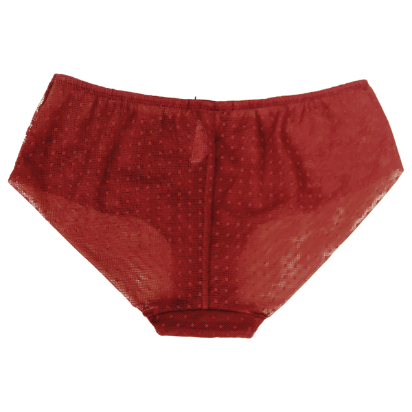 Carrie Red Maxi Briefs | Silver Lining Lingerie