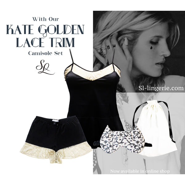 Kate Golden Lace trim Gift Set | Silver Lining Lingerie