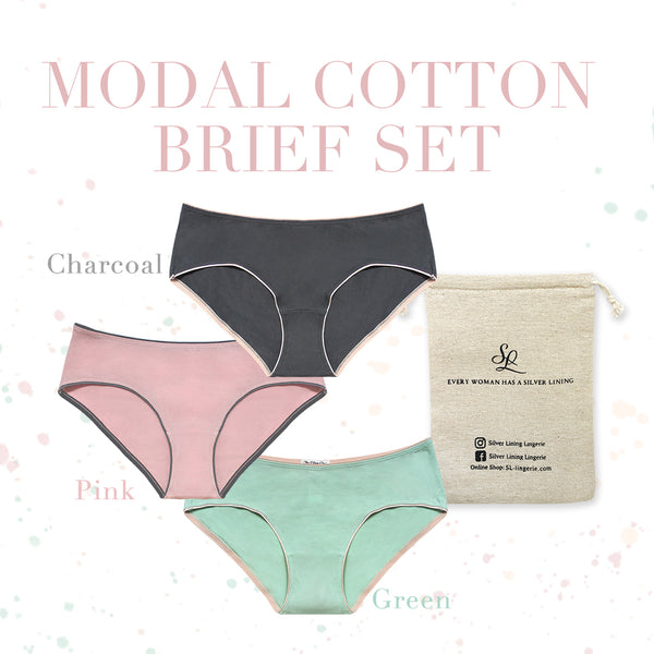 Everyday essential Modal Cotton Brief Set (3 pack)
