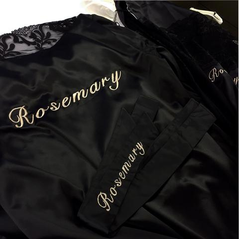Personalised Embroidery service | Silver Lining Lingerie