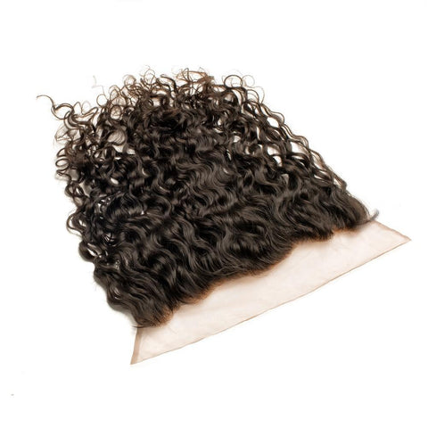 Raw Virgin Indian Temple Hair Curly Steamed Frontals - 13X4, 13X6, 360° - Tress Temple