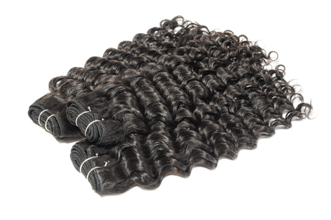 Raw Virgin Indian Temple Curly Steamed Bundles - Tress Temple