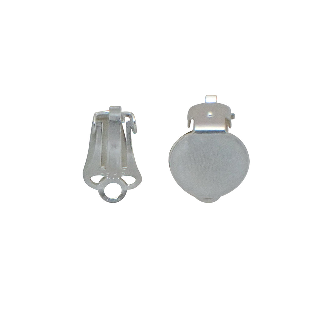 Clip On Earrings with Flat Disc