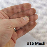 Phosphor Bronze Mesh Sheets (Use Dropdown List to Seelct Mesh Size)
