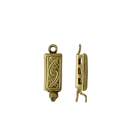 Rectangle Clasp with Ornate Pattern