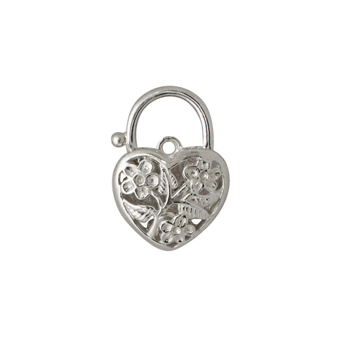 Heart Shape Padlock - Filigree