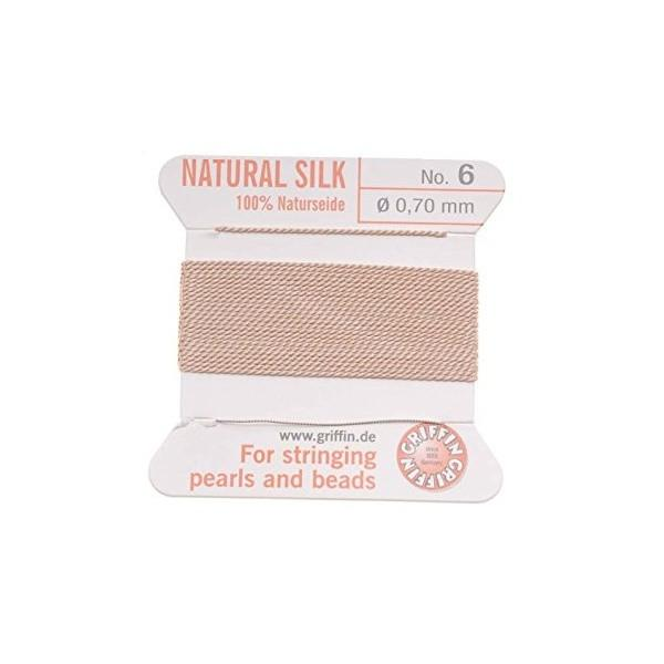 Adhesives & Stringing Supplies - Light Pink - Griffin Natural Silk: German Made