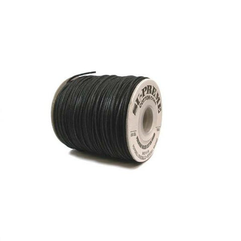 Adhesives & Stringing Supplies - Su-Preme Waxed Cotton Cord - 1.0mm Diam  OUT OF STOCK