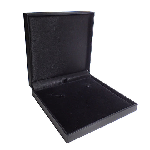 Black Leatherette Necklace Box