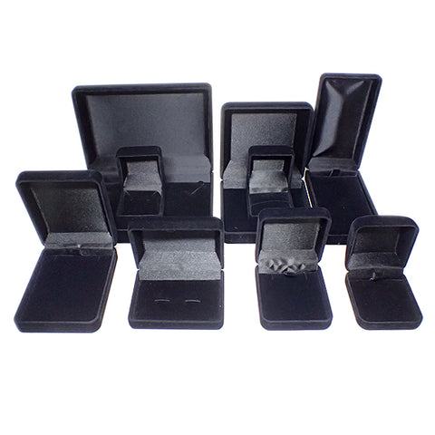 Flocked Velvet Boxes - Black / Black (Use Dropdown List to Select Type)