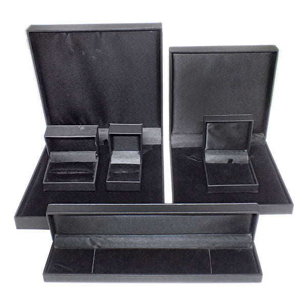 Leatherette Boxes - Black / Black (Use Dropdown List to Select Type)