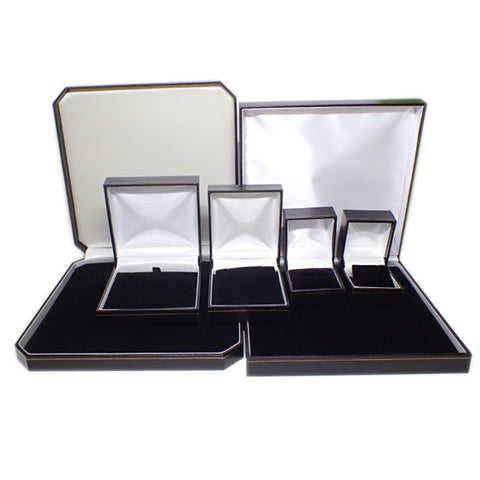 Leatherette Boxes - Black with Gold Trim (Use Dropdown List to Select Type)