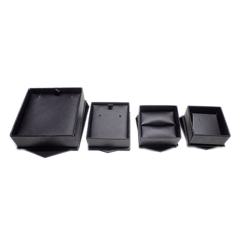 Cardboard Boxes with Magnetic Closure - Matte Black / Black (Use Dropdown List to Select Type)