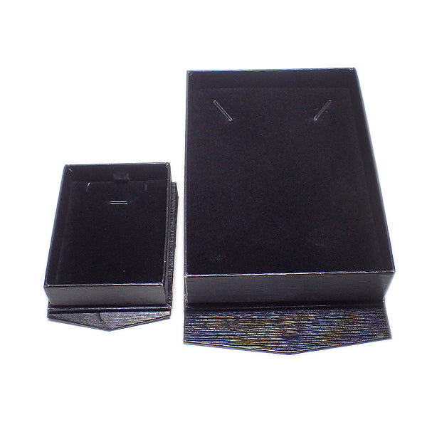 Textured Cardboard Boxes with Magnetic Closure - Black / Black (Use Dropdown List to Select Type)