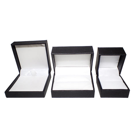 Leatherette Boxes - Black / White (Use Dropdown List to Select Type)