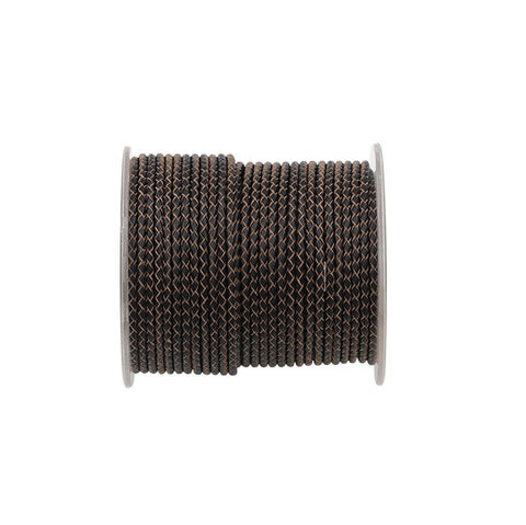Braided Leather Cord - 3.0mm diameter (Use Dropdown List to Select Colour)