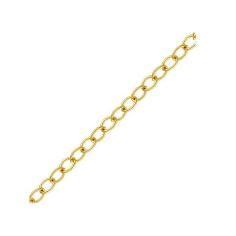Chain & Readymades: Precious & Plated - Cable - (2.2mm X 1.7mm) #4012520