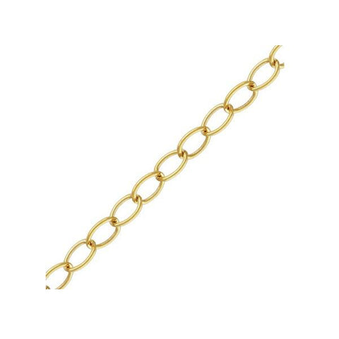 Chain & Readymades: Precious & Plated - Cable - (3.3mm X 2.2mm) #4012538