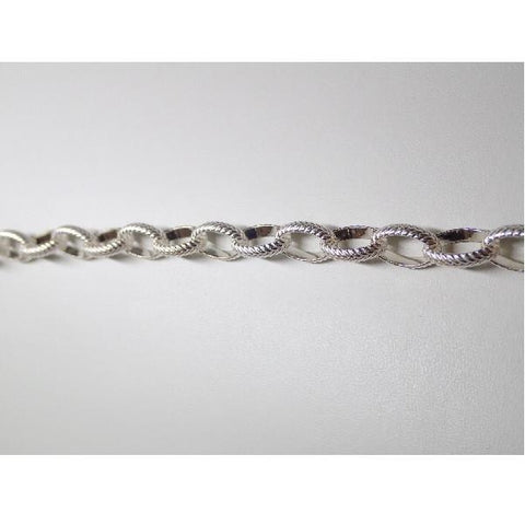 Chain & Readymades: Precious & Plated - Oval - Textured (11.5mm X 8mm) #030CH0214