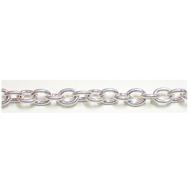 Chain & Readymades: Precious & Plated - Oval, Trace - Heavy (6.5mm X 8.0mm) #063CH0009