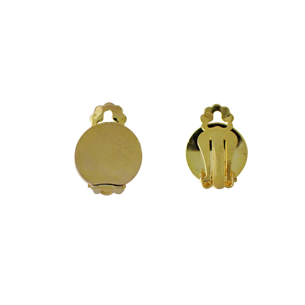 Clip On Earrings - Flat Disc (Use Dropdown List to Select Size & Colour)