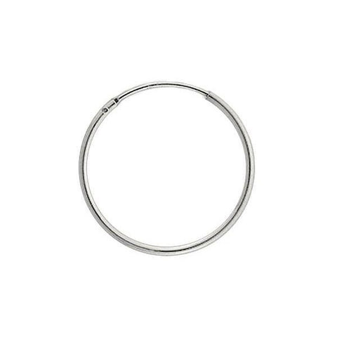 Endless Hoop Earrings - Round (Thin - 1.25mm)
